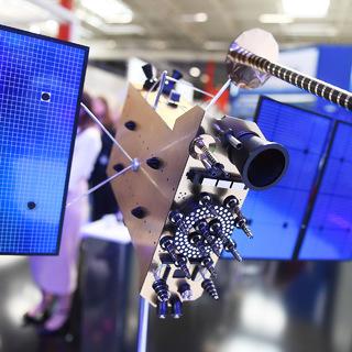 Модель космического аппарата российской глобальной навигационной системы «Глонасс-К»