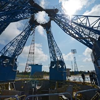 Стартовый комплекс на космодроме Восточный