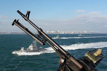 Украинцы под присмотром российских кораблей провели учения в Азовском море