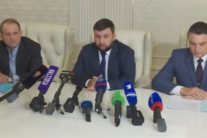 Переговоры Медведчука, Пушилина и Пасечника в Минске