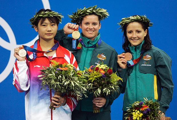 Лао Лиши, Шантель Ньюбери и Лауди Турки (слева направо)