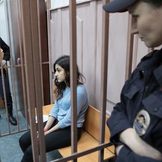Кристина Хачатурян, обвиняемая в убийстве своего отца Михаила Хачатуряна