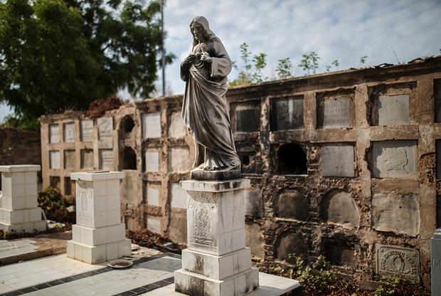 Мародеры начали грабить кладбища с конца прошлого года. Они сбивают с могил и колумбариев отделку, иногда крадут ценные вещи с мертвецов. Раньше похороны проводились до вечера, но теперь — только до полудня. На кладбище усилены меры безопасности, чтобы предотвратить разграбление могил.