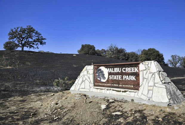 Вывеска парка Малибу Крик