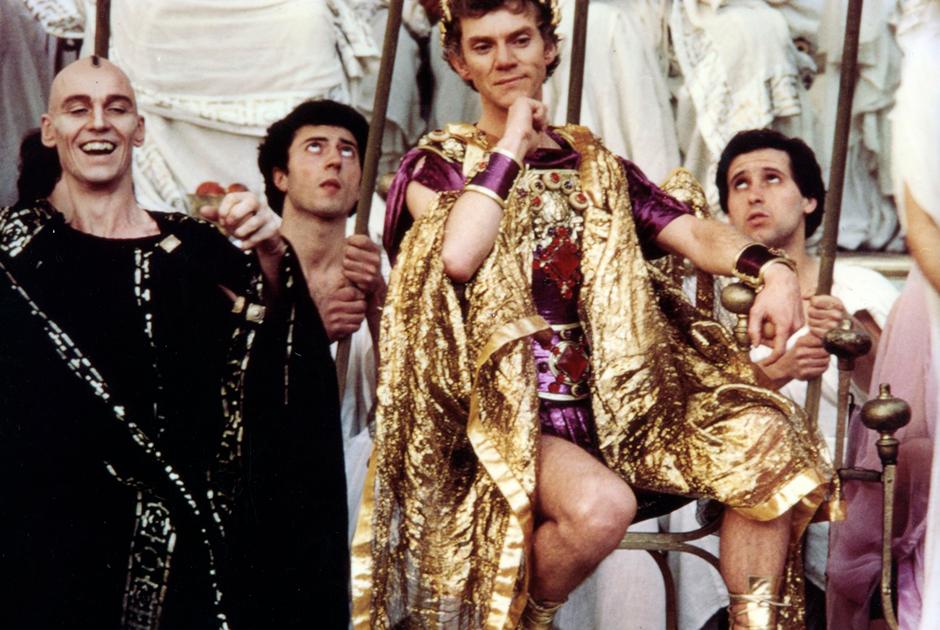 Демонический образ императора Калигулы всегда был привлекателен для режиссеров. Одним из самых известных фильмов об императоре стал эротический фильм «Калигула» Тинто Брасса. Роль императора исполнил Малькольм Макдауэлл