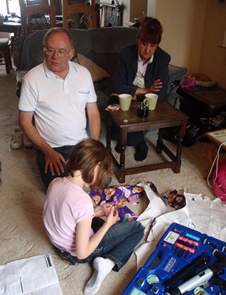 Рэд с дедушкой и бабушкой