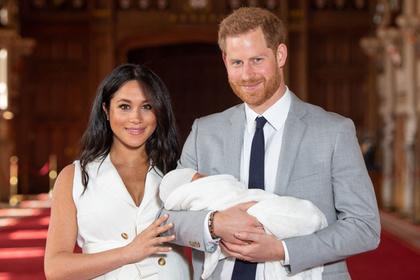 Меган Маркл и принц Гарри с сыном