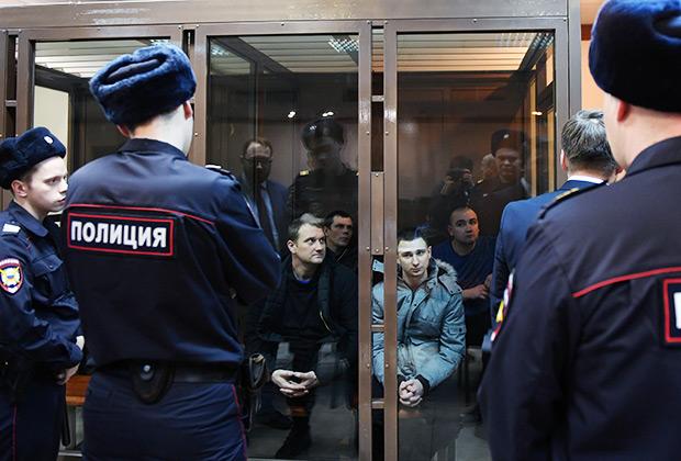 Задержанные украинские моряки в Московском городском суде