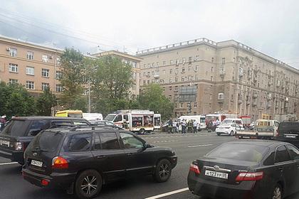 В центре Москвы произошла крупная авария