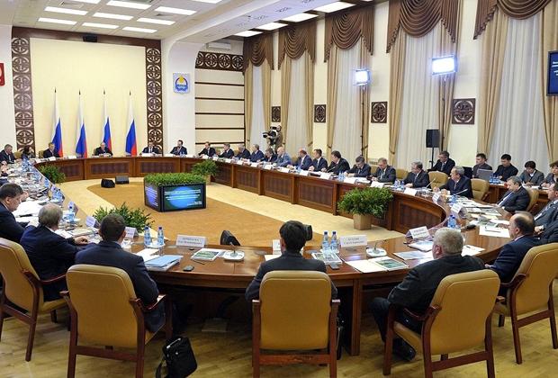 Заседание президиума Государственного совета о повышении эффективности лесного комплекса. 2013 год.