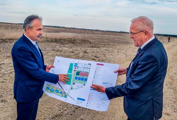 Министр сельского хозяйства Венгрии Иштван Надь и глава FAKT AG Хуберт Шульте-Кемпер