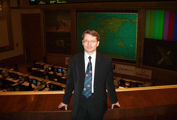 Алексей Свистунов в Центре управления полетами