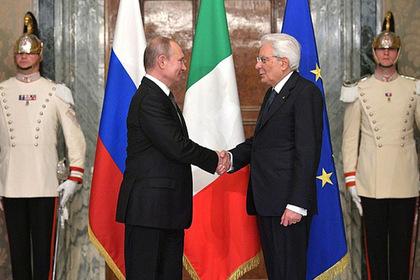 Путин раскрыл подробности визита в Италию
