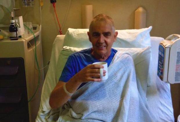 Гари Ходжес на следующий день после трансплантации стволовых клеток
