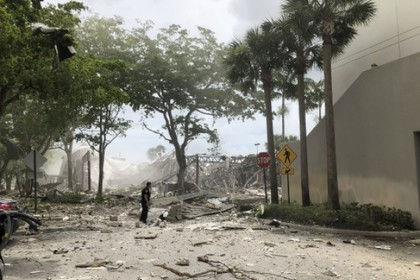 Появилось видео с места взрыва ТЦ во Флориде