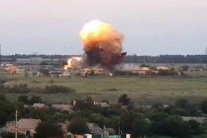 Появилось видео обстрела позиций ВСУ в Донбассе из противоминной установки