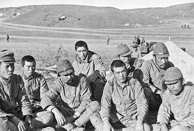 Японские солдаты, взятые в плен на Халхин-Голе. 1939 год