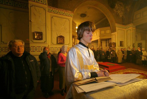 Праздник Рождества Христова в рижском храме Вознесения Господня