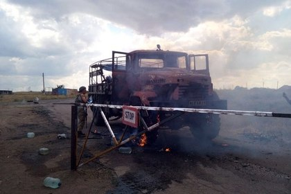 Нагубернатора Донецкой области совершено покушение (фото обстрела автоколонны)