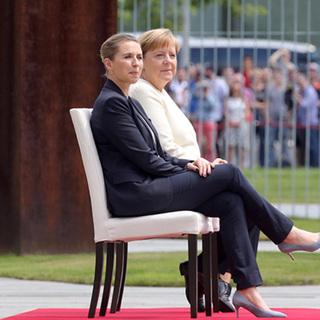 Метте Фредериксен и Ангела Меркель