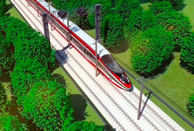 Концепт высокоскоростного поезда, разработанный в ОАО «Российские железные дороги»