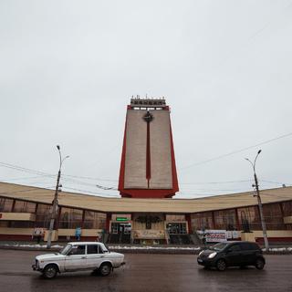 Здание железнодорожного вокзала в Липецке