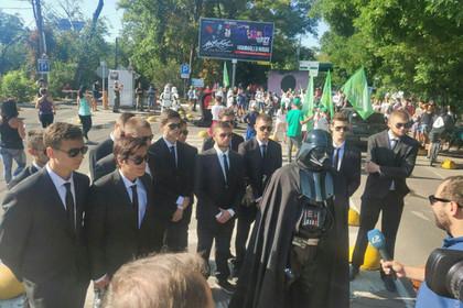 Дарт Вейдер остановил пробежку Зеленского в Одессе