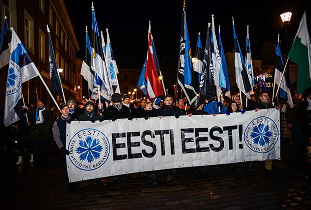 Факельное шествие Эстонской консервативной партии
