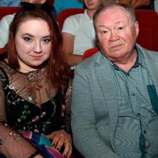 Юрий Кузнецов с дочерью Александрой