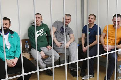 Задержаные украинские моряки на заседании Лефортовского суда