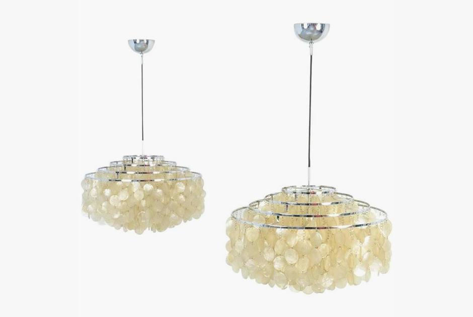 Лампы из серии Fun Shell по дизайну Вернера Пантона