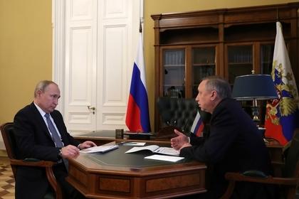 Беглов рассказал Путину о новых мерах соцподдержки петербуржцев