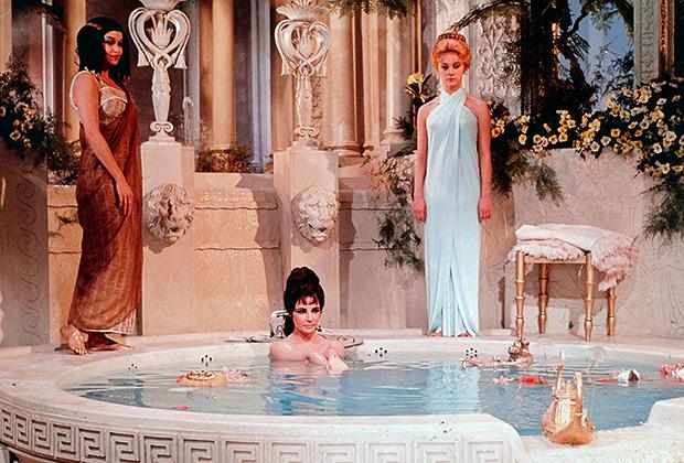 Главным киновоплощением истории египетской царицы стал эпический фильм 1963 года «Клеопатра», ставший самым дорогим в производстве фильмом на тот момент. За роль Клеопатры Элизабет Тейлор получила один миллион долларов — 8,4 миллиона в долларах 2019 года.