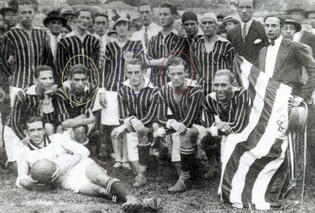Саид Паулу Аргес, Жайру де Ассис Алмейда и Марио де Кастро (на фото обведены, слева направо)