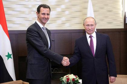 Путин и Асад поздравили друг друга