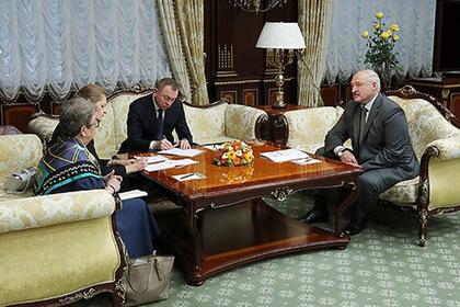 Встреча Александра Лукашенко с главой представительства ЕС в Беларуси Андреа Викторин