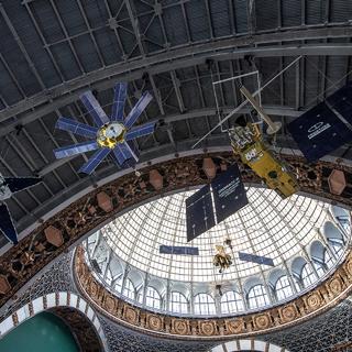 Макет космического аппарата «Глонасс-К» российской глобальной навигационной системы ГЛОНАСС