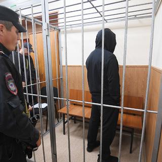 Олег Медведев (Шишканов)  в зале заседаний Басманного суда