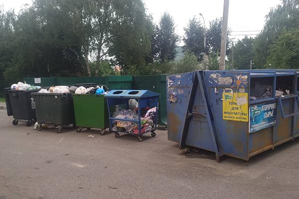 Контейнеры для раздельного сбора мусора в Домодедово