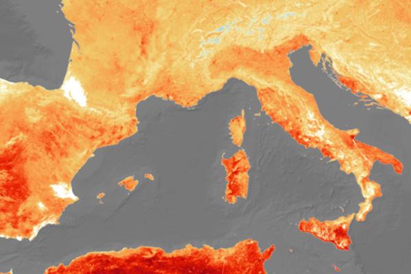 Image result for Аномальную жару в Европе показали из космоса