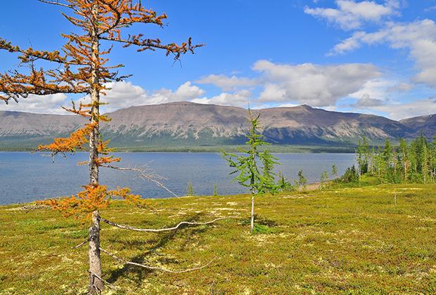 Горное озеро на плато Путорана
