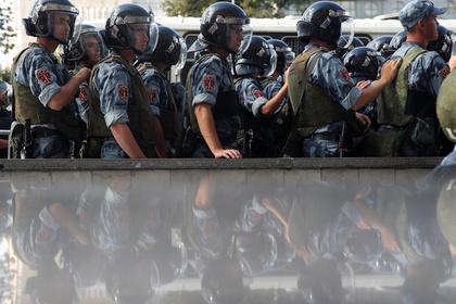 На акции протеста в Москве пострадали бойцы Росгвардии