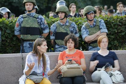 Названо число задержанных на акции протеста в Москве