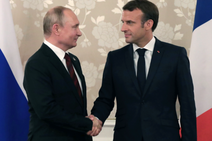 Названы дата и место встречи Путина с Макроном