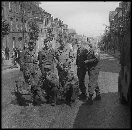 Групповой портрет американских солдат. Германия, 1945 год.