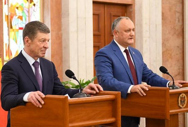 Дмитрий Козак и Игорь Додон