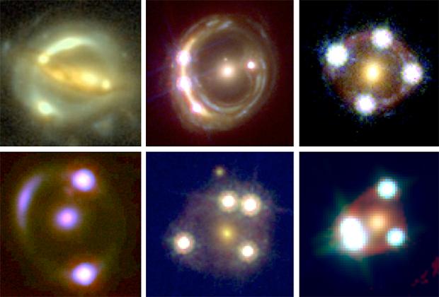 Наблюдение за мерцающими из-за гравитационных линз квазарами помогло ученым измерить скорость расширения Вселенной
