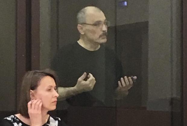 Олег Рыльков на заседании Сызранского городского суда, рассматривающего ходатайство о досрочном прекращении его наказания