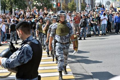 Полицейские остались без премий за разгон митинга в Москве