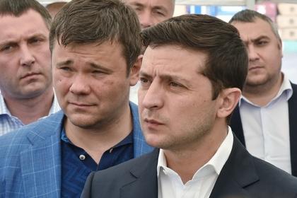 Андрей Богдан (слева) и Владимир Зеленский